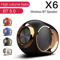 HIFI TWS Bluetooth 5.0 Speaker X6 Wireless Altoparlanti TWS Colonna portatile impermeabile stereo esterna di TF di sostegno FM AUX USB per PC Phone