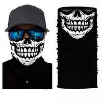 Crâne Visage Masque Écharpe Heandband Cagoules Magique Turban Bandanas Cou Snood Anti-Poussière Vélo Moto Halloween Party Chapeaux Masques