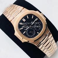 3 Stil Lüks Gül Altın Elmas Çerçeve Kristal Saatler Erkekler Otomatik Cal.240 İzle eta erkek 5724 Güç Rezervi 5712 Deri Saatı