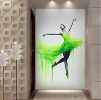 Yeni HD Baskılı 1 Adet Şık Dans Balerin Yağı Özet Bale Kız Duvar Büyük Canvas Çoklu Seçimleri Boyama