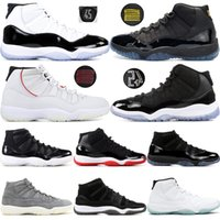 Concord 45 11 11s Uomo Scarpe da pallacanestro Cap and Gown Olive Lux Heiress Palestra Red Platinum Tint Space Jams Sport Sneakers 5.5-13