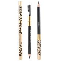 Livraison gratuite Factory Direct New Maquillage yeux Leopard Nouveau maquillage professionnel Crayon à sourcils brosse! Noir / brun / café noir / gris / lumière COFF