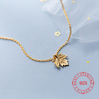 Newest Design Real s925 Sterling Silver Maple Leaf Punk Neck...