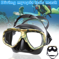 2019 Camouflage Diving Snorkel Mask Nearsighted Lenses Mask ...