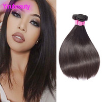 Indian Virgin Human Hair Straight Double Wefts Silky Hair Bu...