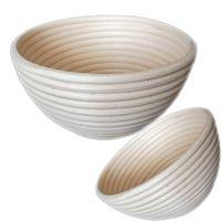 Cesto de mimbre natural de la canasta de mimbre de pan de ratán hecho a mano de ratán redondo oval herramientas de panadería Pan francés Proofing cestas para hornear accesorios