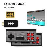 البيانات FROG USB أنظمة تشغيل لاسلكي محمول 4K HD لعبة فيديو لاعب HDMI AV 568 600 ريترو العاب كلاسيكية يده الترفيه المقود