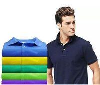 Brand Fashion Men Polo Camicia maschile a maniche corte Big Piccolo Cavallo Coccodrillo Ricamo ricamo T-shirt T-shirt Top Tees Plus Size S-3XL