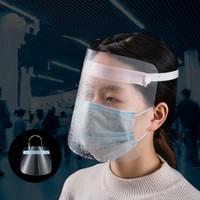 mulit color de la cara de plástico protector de cara máscara facial Protección reutilizable Escudo de seguridad completa transparente máscara protectora Protección contra salpicaduras