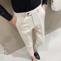 Fashion Men Suit Pants Formal Business Dress Pants Wedding Dress Office Social Casual Slim Streetwear Trousers clothing