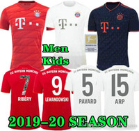 Tailândia COUTINHO 19 jérsei 2019 2020 camisa LEWANDOWSKI jersey HERNANDEZ Football SETS MUNCHEN Men + KIDS 20 Bayern de Munique Perisic futebol