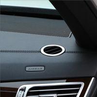 Mercedes Benz W212 Oto Aksesuarları 2010-2015 2adet için Araç İç Pano Yan Hava Firar Çıkışı Halkalar çerçeve Kapak Trim Sticker