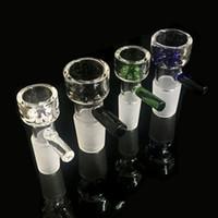 Großhandel Glasschüsseln mit Blau, Grün, Schwarz klar Snowflake Filtertopf für Glasbongs 10mm 14mm 18mm Fit Bohrinseln Glasbongs