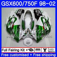 Cuerpo para Suzuki Katana GSXF 600 750 GSXF750 98 99 00 01 02 292hm.6 GSX 750F 600F Verde caliente Nuevo GSXF600 1998 1999 2000 2001 2002 Carreyo