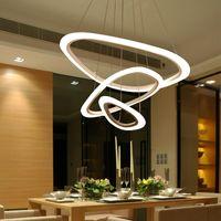 Moderno Led Candelabro para sala de estar sala de jantar Suspensão Luminária LED Avize Pingente Candelabro Levante LED Candelabro Iluminação