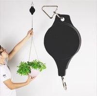 Prático Flower Pot Pulley cabide de plástico retrátil Cesto de apoio no âmbito 8 kg Hanging Bacia Hooks Of Garden Supplies 6 2LD E19