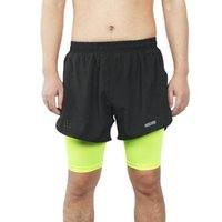 Arsuxeo Breathable Cycling Shorts Men 2- in- 1 Quick Drying Ru...