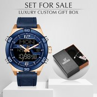 NAVIFORCE Luxury Brand Men Fashion Quartz Watches With Box Set For Sale Waterproof Men's Watches Leather Military Wristwatch