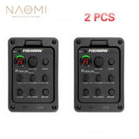 NAOMI 2 Pcs Fishman Presys 301 Mic Blend Dual Model Preamplificatore per chitarra EQ Tuner Piezo Pickup Beat Chitarra Ricambi Accessori Nuovo