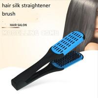 v forme cheveux raides peigne plat anti-statique brosse à poils brosse salon de coiffure styling outil styler soie brosse à cheveux droite