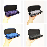 Mini-Folding-Regenschirm-Ultra-leichte Frauen-Protable-Regenschirm-Kompakter-Taschen-Regenschirm winddicht Regen-Sonnenschirme mit Boxen LXL1174-1