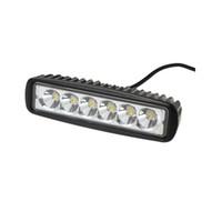 Otomobiller Yeni Araba-Styling Kamyon 18 W 6 SMD LED Iş Işık Çubuğu Geri Dönen Sel Çalışma Işık Lambası Jeep Boat 4WD 12 V