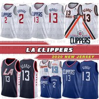 LA Clippers Jersey 2 Kawhi Leonard 13 Paul George 23 Lou Williams 5 Montrezl Harrell 25 Mfiondu Kabengele Angeles the city cousu shorts Maillots hommes