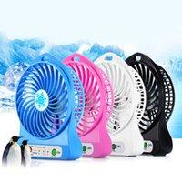 Summer portable mini ventilateur 3 vitesse réglable Ventilateurs pour la maison OfficeDesk bureau Voyage USB rechargeable ventilateur avec LED portable