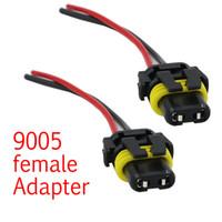 2 piezas Cable de alimentación universal 9005 HB3 H10 Adaptador hembra Arnés de cableado Enchufes Cable para faros antiniebla Bombilla LED