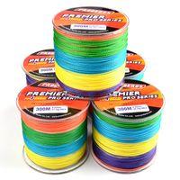 300Meters 여러 가지 빛깔의 낚시 선 4 가닥 꼰 선 사용 가능한 6 파운드 - 100 파운드 PE 라인