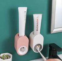 완전 자동 치약 디스펜서를 벽에 장착 된 다기능 무료 펀치 레이디 칫솔 홀더 욕실 액세서리 욕실 HA886 랙