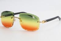 Vendita di nuovo metallo Ultime moda occhiali da sole 3524012-B Glasses Black Plank Occhiali da sole montati Fashion Alta Qualità intagliata C decorazione oro f