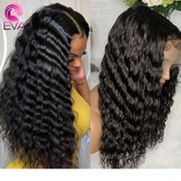 Eva Hair 150% Curly Full Lace Human Hair Wigs Bleached Knots...