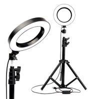 Крытое освещение светодиодные кольца светло-студии фотоаппарата фотографии съемки Диммируемая видеозапись для макияжа Selfie с штативным держателем телефона