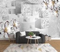 침실 거실 소파 TV의 배경에 대 한 사용자 정의 3D 벽화 벽지 보석 벽지 부엌 벽 3D 벽 종이 롤스