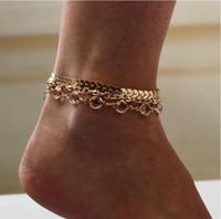 Avrupa ve Amerikan popüler payetli halhal, yaz vahşi moda ok elmas üç parçalı footwear1145