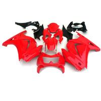 Custom Backings Kit voor Kawasaki Ninja 250R ZX250R ZX 250 2008 2009 2010 2011 2012 EX250 08-12 Glanzende rode zwarte kuipenset YY3