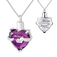 Персонализация Crystal Heart Memorial The Jewelry Creation Creation Creation Meetsake Memorialund Ожерелье Дом для ожерелья Двухместный из нержавеющей стали с заливным