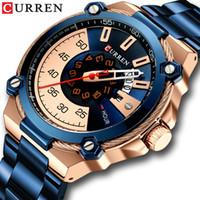 Acciaio orologio da polso orologio al quarzo con sveglia modo maschio Acciaio CURREN design orologi da uomo con Auto Data causale Business Nuovo orologio