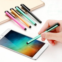 Pluma de la aguja de la pantalla táctil del metal de la pluma principal de goma con el clip para iPhone 11 Pro Max Samsung S20 Tablet PC Dispositivos Android capacitivo Stylus Pen