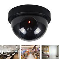 Nueva Negro de plástico cubierta al aire libre simuladas falsas Home Dome cámara de seguridad CCTV LED parpadeante luz roja CA-05