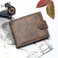 Luxus-Designer Mens-Mappen-Leder PU Bifold Kurzbörsen Herren Haspe Vintage-Mann-Geldbeutel-Münzen-Beutel-Multifunktionskarten WalletSDAFAS