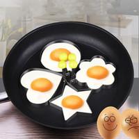Spiegelei Ringe Mold Edelstahl Spiegelei Modell Pancake-Former-Hersteller wiederholbar Küche zu Hause Braten Gerät T2I5782