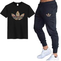 2019 Summer Men T Shirt Sets+ Pants Two Pieces Sets Casual Me...