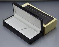 Caixa de caneta de alta qualidade 4 estilos para a capa do lápis do presente das canetas da bola do rolo da fonte da fonte com manuais e embalagens profissionais