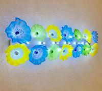 Ev dekoratif çiçek plaka lambaları İtalyan tasarım el üfleme aydınlatma led murano cam sanat duvar aplik