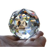 Piedras de bola de cristal de cuarzo facetadas naturales y minerales Feng Shui Cristales Bolas Figuras en miniatura Kristal