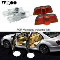 LED de porta de carro logo projetor de lâmpadas de sombra de boas-vindas para Mercedes / Benz W210 W203 W204 W205 A E B C C ML classe GL para M-Class