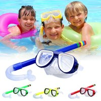 Snorkeling Children Diving Goggles + Suction Tube Set New Material Pvc Non-Toxic Environmental Protection Material Diving Set Ch