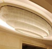 Modern LED Kristal Büyük Avize Kolye Işık Villa Oturma Odası için Tavan Işık Oval Otel Lobisinde Özelleştirilmiş Kulübü Satış Projesi Işık Aydınlatma Lambaları